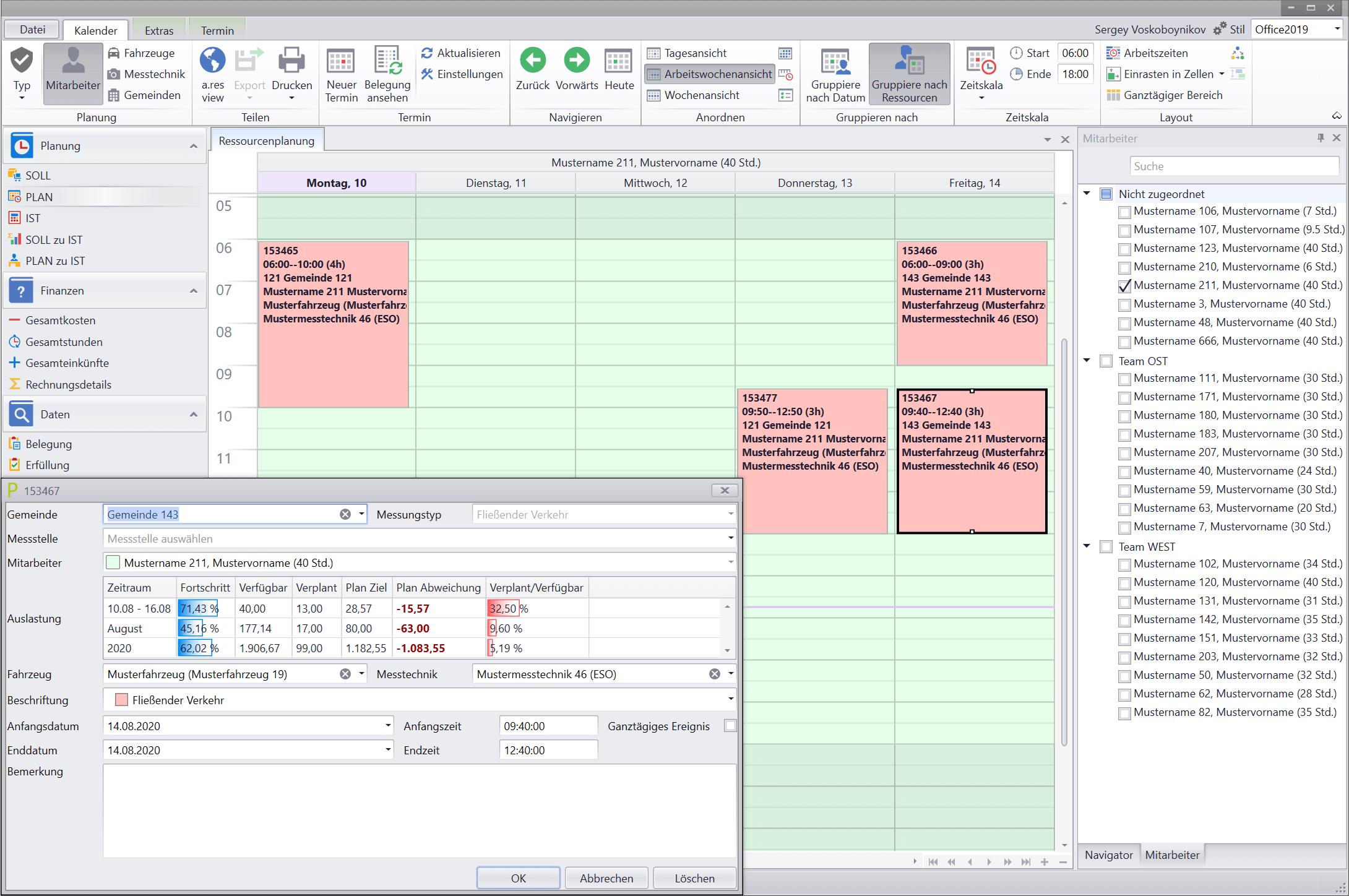 3-PLAN-Kalender-Arbeitswochenansicht
